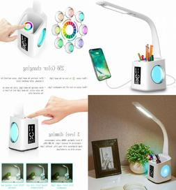 Wanjiaone study led desk lamp with usb charging port&screen&