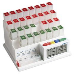 The MedCenter Talking Monthly Medication Organizer and Alarm