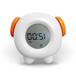 Toddler Stay-In-Bed Kids Light Alarm Clock. Teaches Child Wh