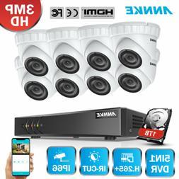 ANNKE 8x 3MP TVI Security Cameras 8CH 5in1 DVR HDMI Motion R