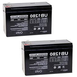UB1280 12V 8Ah Home Alarm Security System Battery - 2 Pack