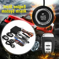 Universal Car Alarm System Engine Start Push Button Remote S