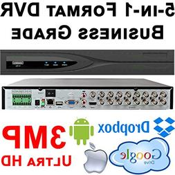 USG 16 Channel Security Video Recorder DVR + 4TB HDD : 3MP 2