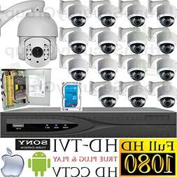 USG PTZ Business Grade 1080p 2MP HD-TVI 16 Camera CCTV Kit 1