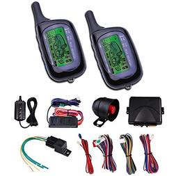 CarBest Vehicle Security Paging Car Alarm 2 Way LCD Sensor R