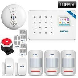 KERUI W18 1.7 Inch TFT Screen WIFI GSM Home Burglar Security