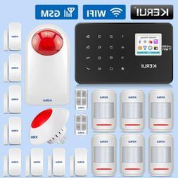 KERUI W18 WIFI GSM Burglar Security Alarm System SMS APP Con