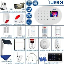 KERUI W20 WiFi GSM SMS RFID Wireless Home Security Alarm Sys