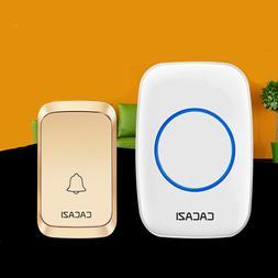 Waterproof Wireless Doorbell Chime Cordless Digital Remote S