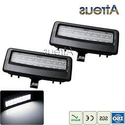 White : Atreus Car LED Vanity Mirror Lights 12V for BMW F10