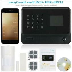 WIFI GSM GPRS Wireless Wired Home Intruder Alarm Security Sy