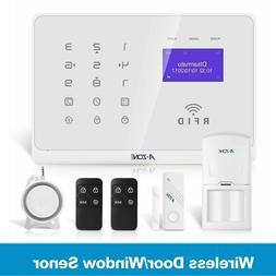 WiFi GSM Home Burglar Security Alarm System Kit PIR/Door Sen