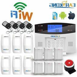 Wifi GSM PSTN Alarm System Wireless & Wired Detectors Alarm