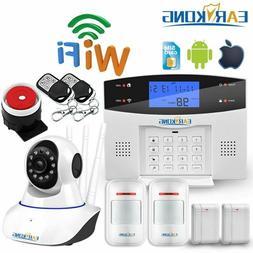 Wifi GSM Home Burglar Alarm System 433MHz Detector Alarm Sup
