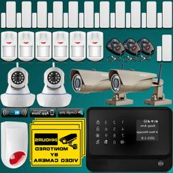 WiFi Internet GSM Home Burglar Alarm System Security Kit Wit