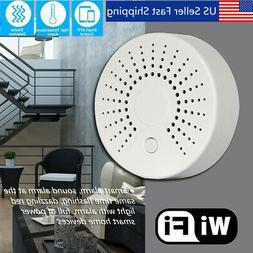 WiFi Wireless Smart Smoke Detector Security Alarm Battery Op
