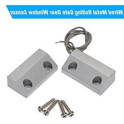 OWSOO Wired Metal Rolling Gate Door Window Sensor Magnetic C