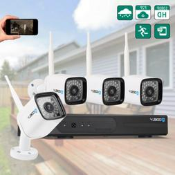 Wireless 8CH 1080P NVR 720P HD WiFi IR-CUT Camera Security S