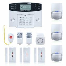 wireless burglar alarm system gsm smart lcd