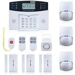 Wireless Burglar Alarm System GSM Smart LCD Voice Anti-theft