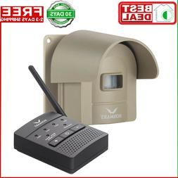 Wireless Driveway Alarm Alert System 1/4 Mile Security Motio