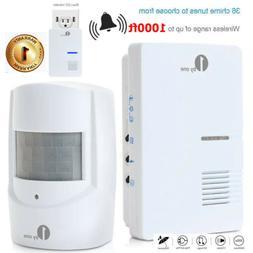 1000FT Long Range Wireless Doorbell Alarm Driveway Alert Hom