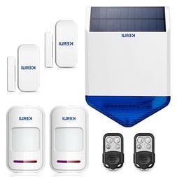 Wireless Flash Strobe Indoor Siren Alarm Horn Home Burglar S