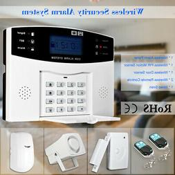 433Mhz RF Wireless GSM SMS LCD Home Burglar Alarm Security S