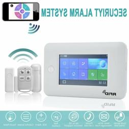 Wireless GSM + WiFi Touch Screen Smart Burglar Security Home