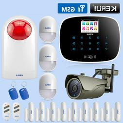 Wireless Home GSM Security Alarm System IP Camera Solar Sire