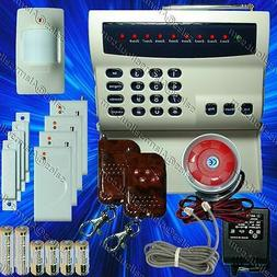 WIRELESS HOME SECURITY SYSTEM -LED BURGLAR FIRE ALARM HOUSE
