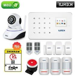 KERUI Wireless Home WIFI GSM Security Alarm System Kit APP C