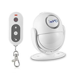 CPVAN Motion Sensor Alarm with Siren, Remote Control Wireles