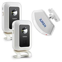 KERUI Wireless Infrared Welcome Doorbell Chime Kit - 2 Recei