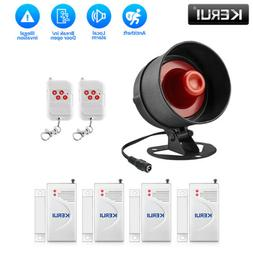 Wireless Loud Alarm Siren Horn with Sensor For Home Security