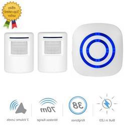 Wireless Motion Sensor Doorbell LED Driveway Alarm Home Secu