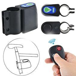 Wireless Remote Control Bicycle Alarm Siren Shock Vibration
