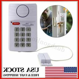 Wireless Security Keypad Door Sensor Alarm System Panic Butt