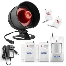 Wireless Sensor Alarm Kit Motion Security System Loud Siren