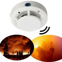 Wireless Smoke Detector Home Security Fire Alarm Photoelectr