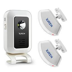 KERUI Wireless Welcome Door Bell Alarm Chime Kit-1 Receiver,