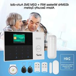 Wireless WIFI 2G GSM Smart Home Security Alarm System Access