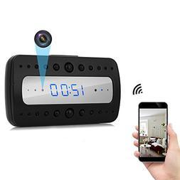 ENKLOV Wireless WiFi Alarm Clock HD 1080P Mini Camera - Vide