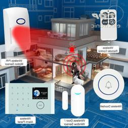 Wireless WiFi+GSM+GPRS Network Intelligent Home Alarm System