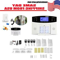 Wireless Wired EK LCD GSM SMS Home House Alarm System Securi