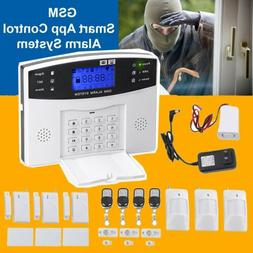 Wireless Wired LCD Touch Keypad GSM SMS Home House Alarm Sys