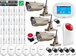 X96 KERUI WiFi GSM APP Wireless Home Security Alarm System+3