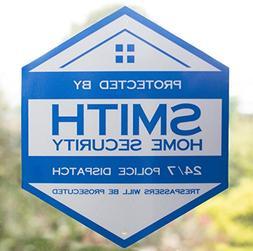 Home Security Yard Sign - 24/7 Surveillance Alarm System Tre